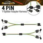 Pairs Trailer Wiring Harness Extension 4 Pin Plug Flat Wire Connector Adapter
