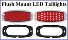 Flat Mount Red LED Taillights Roll Pan Bumper Custom Dodge Pickup Truck C4148