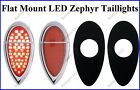 Flat Mount Red LED Zephyr Taillights Roll Pan Bumper Custom Chevy Truck F3951Z 2