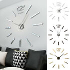 3 Colors DIY 3D Roman Numbers Watch Wall Clock Home Decor Mirror Wall Sticker
