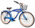 Mens Mountain Bike Women Beach Cruiser Road Comfort Bicycle 26 Inch Steel Frame