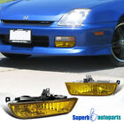 For 1997-2001 Honda Prelude Bumper Fog Lights Driving Lamps+Switch Yellow