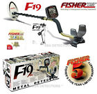 "NEW FISHER F19 Metal Detector With 10"" x 5"" DD COIL And FREE Shipping !"