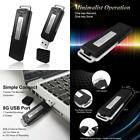Portable Digital Clear Audio Mini Voice Recorder USB Pen Drive 150 Hours 8GB