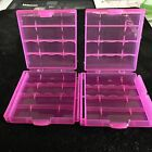 """Brand New """"2"""" Plastic Storage Case Holder Boxes for AA,10440, 14500 Battery Pink"""