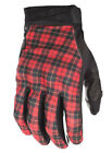 Fly Street Subvert HIGHLAND Textile Touchscreen Riding Gloves (Red Plaid/Black)