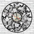 Butterfly Vinyl Wall Clock Record Home Acrylic Art Decor Silent Black Decoration