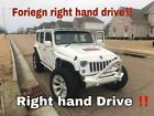 2015 Jeep Wrangler Unlimited Sahara Sport Utility 4-Door RIGHT HAND DRIVE FORIEGN custom Jeep UNLIMITED SPORT