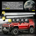 52'' 300W LED Curved Combo Work Light Bar + 42inch +4pcs 18W Spot Offroad SUV 40