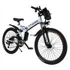 "Professional 26"" Mens Mountain Bike Electric Power Bike 7 modes fly-wheel Top.US"