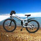 "Professional 26"" Mens Mountain Bike Electric Power Bike 7 modes fly-wheel Top-US"