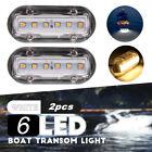 2x 12V LED Underwater Pontoon Marine Yacht Boat Transom Light High Intensity