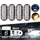 4x 12V LED Underwater Pontoon Marine Yacht Boat Transom Light High Intensity