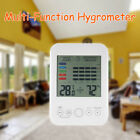 12*8.5*2cm Indoor Digital Thermometer LCD Hygrometer Humidity Meter Gauge Clock