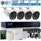 4 Channel NVR (4) 4MP 2.8-12mm Motorized Lens IP Security Camera System 3T HD