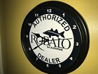 Robalo Marine Fishing Boat Garage Approved Service Man Cave Wall Clock Sign