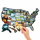 "RV State Stickers United States Travel Camper Map, 21"" x 14.5"" ~ RV Decal... New"