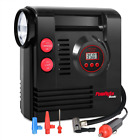 PowRyte Compact Digital Tire Inflator with Built-in Flashlight - Portable Air Co