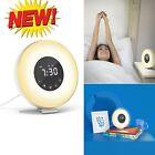 Digital Sunrise Alarm Clock LED Bedrooms Waking Simulation Touch Control Device