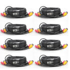 5M/10M/30M Security Camera Cable CCTV Video Power Wire BNC RCA Black Cord Lot