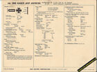 1968 KAISER JEEP JEEPSTER HURRICANE F4 134 ci/75hp Car SUN ELECTRONIC SPEC SHEET