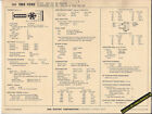 1968 FORD 6 Cylinder 240 ci / 150 hp POLICE & TAXI Car SUN ELECTRONIC SPEC SHEET