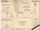 1963 CHEVROLET Inline 6 BISCAYNE/IMPALA/BEL AIR Car SUN ELECTRONIC SPEC SHEET