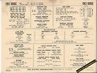 1963 DODGE 880/CUSTOM 880 361/383 ci V8 Engine Car SUN ELECTRONIC SPEC SHEET