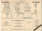 1963 STUDEBAKER V8 259/289 LARK/HAWK/POLICE/TAXI Car SUN ELECTRONIC SPEC SHEET