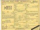1974 BUICK APOLLO/CENTURY/LE SABRE 350 ci V8 Car SUN ELECTRIC SPEC SHEET