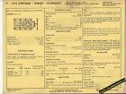 1974 DODGE PLYMOUTH CHRYSLER 400 / ci 4 BBL Car SUN ELECTRIC SPEC SHEET
