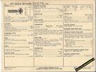 1971 BUICK SKYLARK 6 Cylinder OHV 145 hp / 250 ci Car SUN ELECTRIC SPEC SHEET