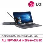 "LG 2018 Gram 14ZD980-GX5BK 14"" Laptop i5-8250U 1.6GH 8G/256G 995g FreeDos Black"