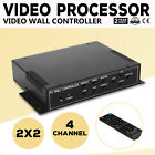 2x2 TV22 4 Channel Video Wall Controller HDMI Outputs matrix unit multi-view FLV
