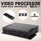 2x2 TV22 4 Channel Video Wall Controller HDMI Outputs AV matrix unit RMVB New