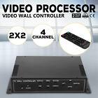 2x2 TV22 4 Channel Video Wall Controller HDMI Outputs VGA matrix unit RMVB