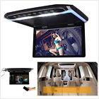 HD 12.1'' 12V LED Digital Screen Car Roof Mounted Flip Down Monitor USB SD TF FM