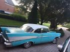 1957 Chevrolet Bel Air/150/210 Ivory/Turquse Rare 1957 Chevy Bel Air 2 Door 283 V 8