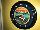 Garwood Logo Wood Fishing Boat Garage Advertising Man Cave Wall Clock Sign