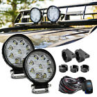 Yamaha Grizzly 700 4INCH Round LED LIGHT BAR SPOT OFFROAD DRIVING FOG LAMP 2PCS