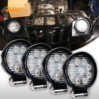 Yamaha Grizzly 700 4INCH Round LED LIGHT BAR SPOT OFFROAD DRIVING FOG LAMP 4PCS