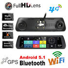 "4G 10"" Touch IPS Bluetooth GPS Dual Lens Car Rearview Mirror DVR Recorder Camera"