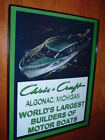 Chris Craft Wood Boat Yacht Green Garage Framed Advertising Print Man Cave Sign
