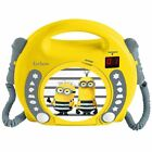 OFFICIAL DESPICABLE ME LEXIBOOK CD PLAYER WITH MICROPHONES CHILDRENS MINIONS
