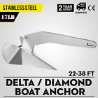 17 lb 7.7 kg Stainless Steel Delta Style Boat Anchor, Boats from 20-35 ft*