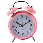 Two Bell Alarm Clock Bedside Desk Waking Up Clock Non Snooze Clock Pink
