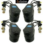 AimHD 4 Pair Passive Video/Power Balun Upgraded 1080P 3MP 4MP Network Tra... New
