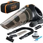 Car/Auto Vacuum Cleaner - High-Power, Portable, Hand-Held [Black]