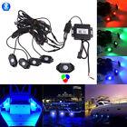 Waterproof Bluetooth 4.0 Music LED Rock Lights RGB Color For Boat 4pcs a set