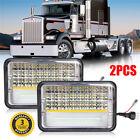 """2X 4x6"""" led Headlights Rectangular Headlight for Chevrolet Freightliner Kenworth"""
